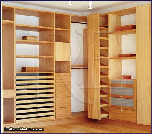 Muebles de madera for Modelos de closet de dormitorio