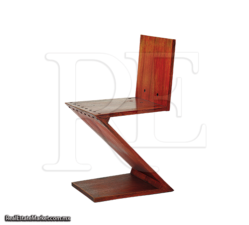 Vitra una obra de arte convertida en silla for Silla zig zag planos
