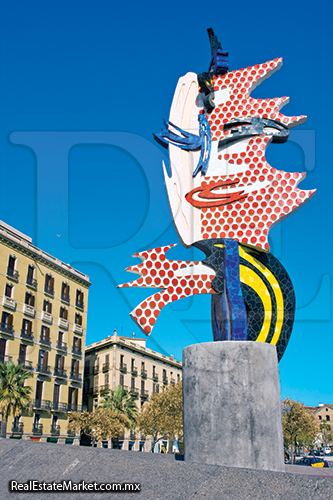 Barcelona's Head · Roy Lichtenstein