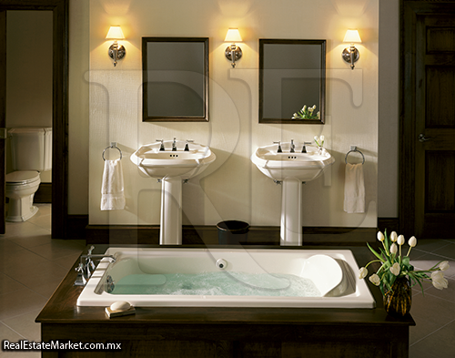 Baño De Tina Concepto:pieza fundamental en el diseño de una sala de baño
